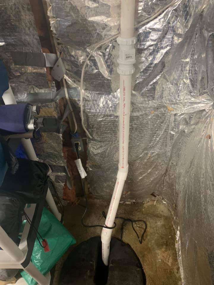 sump pump blew apart, replaced with a high quality heavy duty Zoeller M53 in Reston, VA